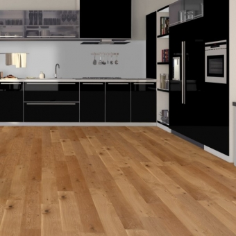 Natural Oak 190mm x 14/3mm x 1900mm Rustic Grade Lacquered Click System Engineered Wood Flooring