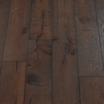 Bark Distressed - 190mm x 18/3mm x Random Lengths Brush & UV Oiled Engineered Wood Flooring