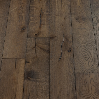 Black Olive Distressed - 190mm x 18/3mm x Random Lengths Brush & UV Oiled Engineered Wood Flooring