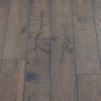 Boulder Distressed - 190mm x 18/3mm x Random Lengths Brush & UV Oiled Engineered Wood Flooring