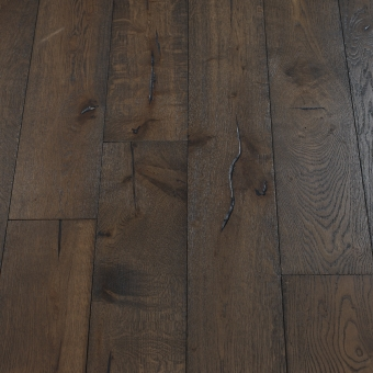 Carbon Distressed - 190mm x 18/3mm x Random Lengths Brush & UV Oiled Engineered Wood Flooring