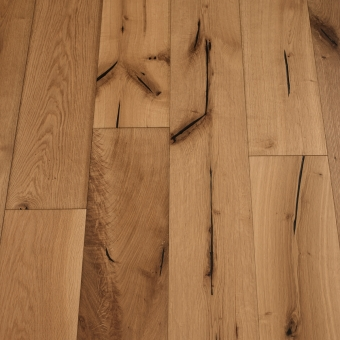 Chestnut Distressed - 190mm x 18/3mm x Random Lengths Brush & UV Oiled Engineered Wood Flooring