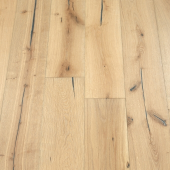 Dough Distressed - 190mm x 18/3mm x Random Lengths Brush & UV Oiled Engineered Wood Flooring