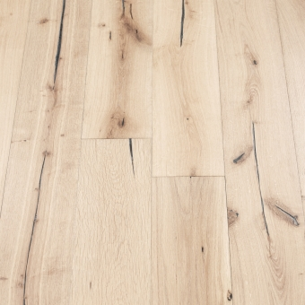 Ivory Distressed - 190mm x 18/3mm x Random Lengths Brush & UV Oiled Engineered Wood Flooring