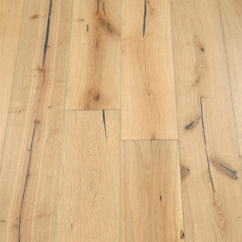 Linen 5% Distressed - 190mm x 18/3mm x Random Lengths Brush & UV Oiled Engineered Wood Flooring
