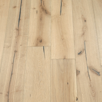Linen Distressed - 190mm x 18/3mm x Random Lengths Brush & UV Oiled Engineered Wood Flooring