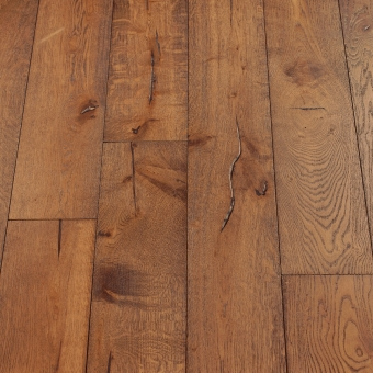 Mahogany Distressed - 190mm x 18/3mm x Random Lengths Brush & UV Oiled Engineered Wood Flooring