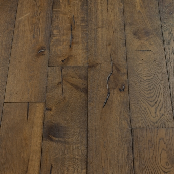 Mocha Distressed - 190mm x 18/3mm x Random Lengths Brush & UV Oiled Engineered Wood Flooring