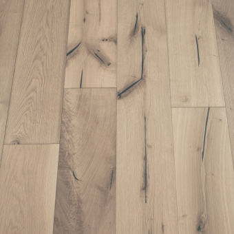 Moonstone Distressed - 190mm x 18/3mm x Random Lengths Brush & UV Oiled Engineered Wood Flooring
