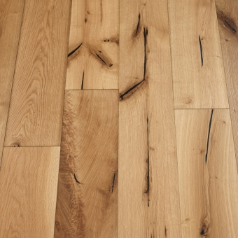 Natural Distressed - 190mm x 18/3mm x Random Lengths Brush & UV Oiled Engineered Wood Flooring