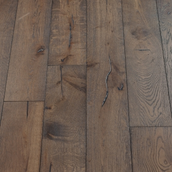 Nordic Distressed - 190mm x 18/3mm x Random Lengths Brush & UV Oiled Engineered Wood Flooring