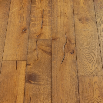 Pearl Distressed - 190mm x 18/3mm x Random Lengths Brush & UV Oiled Engineered Wood Flooring