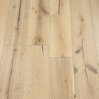 Pebble Distressed - 190mm x 18/3mm x Random Lengths Brush & UV Oiled Engineered Wood Flooring