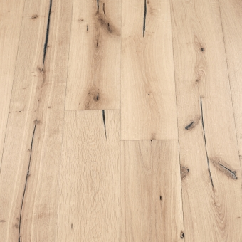 Platinum Distressed - 190mm x 18/3mm x Random Lengths Brush & UV Oiled Engineered Wood Flooring