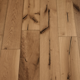 Prune Distressed - 190mm x 18/3mm x Random Lengths Brush & UV Oiled Engineered Wood Flooring