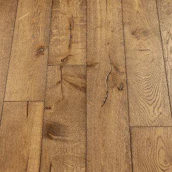 Pyrite Distressed - 190mm x 18/3mm x Random Lengths Brush & UV Oiled Engineered Wood Flooring