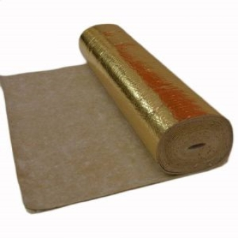 3mm Rubber Underlay With Gold Vapour Barrier 10m²