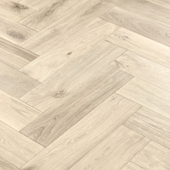 Ivory Herringbone XL Engineered 150mm x 14/3mm x 600mm Rustic Grade Brush & UV Oiled Wood Flooring