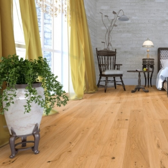 Natural Oak 190mm x 18/4mm x 1900mm Rustic Grade Lacquered Engineered Wood Flooring