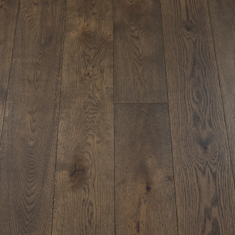 Classic Black Olive - 190mm x 14/3mm x 1900mm Rustic Grade Brush & UV Oiled Click Engineered Wood Flooring