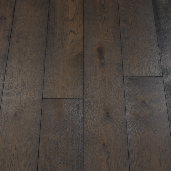 Classic Carbon - 190mm x 14/3mm x 1900mm Rustic Grade Brush & UV Oiled Click Engineered Wood Flooring