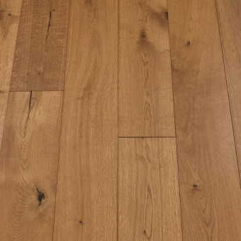 Classic Chestnut - 190mm x 14/3mm x 1900mm Rustic Grade Brush & UV Oiled Click Engineered Wood Flooring