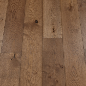 Classic Coffee - 190mm x 14/3mm x 1900mm Rustic Grade Brush & UV Oiled Click Engineered Wood Flooring