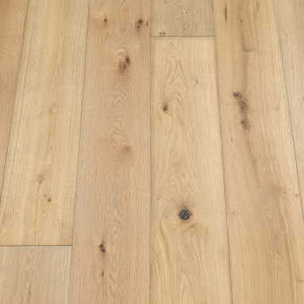 Classic Dough - 190mm x 14/3mm x 1900mm Rustic Grade Brush & UV Oiled Click Engineered Wood Flooring