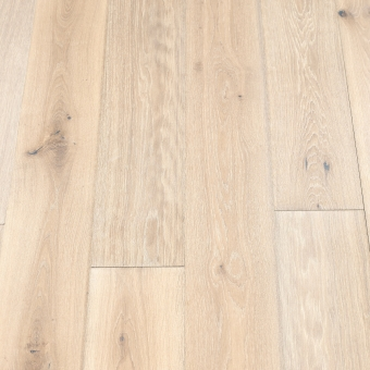 Classic Ivory - 190mm x 14/3mm x 1900mm Rustic Grade Brush & UV Oiled Click Engineered Wood Flooring
