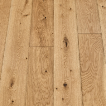 Classic Natural - 190mm x 14/3mm x 1900mm Rustic Grade Brush & UV Oiled Click Engineered Wood Flooring