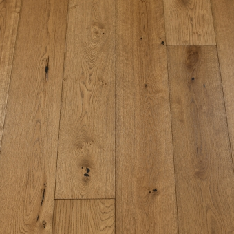 Classic Shadow - 190mm x 14/3mm x 1900mm Rustic Grade Brush & UV Oiled Click Engineered Wood Flooring