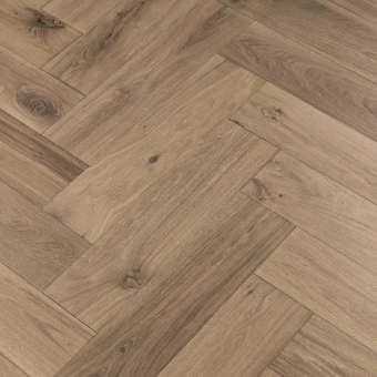 Ash Herringbone XL Engineered 150mm x 14/3mm x 600mm Rustic Grade Brush & UV Oiled Wood Flooring