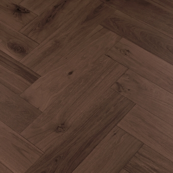 Bark Herringbone XL Engineered 150mm x 14/3mm x 600mm Rustic Grade Brush & UV Oiled Wood Flooring