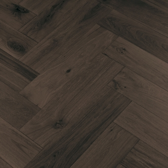 Carbon Herringbone XL Engineered 150mm x 14/3mm x 600mm Rustic Grade Brush & UV Oiled Wood Flooring