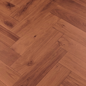 Carmine Herringbone XL Engineered 150mm x 14/3mm x 600mm Rustic Grade Brush & UV Oiled Wood Flooring