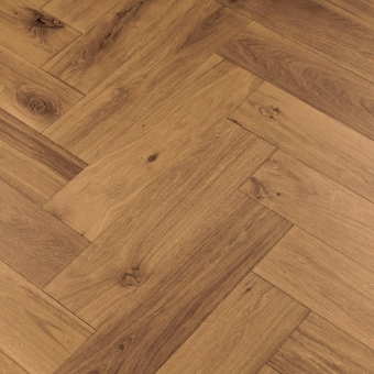 Chestnut Herringbone XL Engineered 150mm x 14/3mm x 600mm Rustic Grade Brush & UV Oiled Wood Flooring