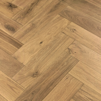 Coyote Herringbone XL Engineered 150mm x 14/3mm x 600mm Rustic Grade Brush & UV Oiled Wood Flooring