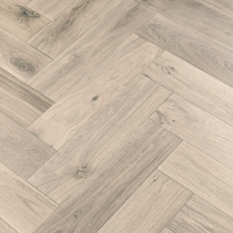Glacier Herringbone XL Engineered 150mm x 14/3mm x 600mm Rustic Grade Brush & UV Oiled Wood Flooring