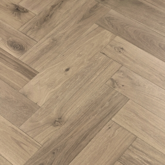Iron Herringbone XL Engineered 150mm x 14/3mm x 600mm Rustic Grade Brush & UV Oiled Wood Flooring