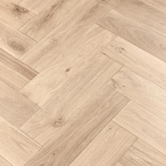Platinum Herringbone XL Engineered 150mm x 14/3mm x 600mm Rustic Grade Brush & UV Oiled Wood Flooring