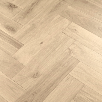 Satin Herringbone XL Engineered 150mm x 14/3mm x 600mm Rustic Grade Brush & UV Oiled Wood Flooring
