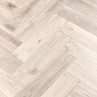 Snow Herringbone XL Engineered 150mm x 14/3mm x 600mm Rustic Grade Brush & UV Oiled Wood Flooring