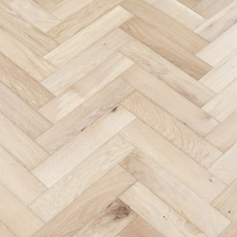 Alpine Herringbone - 90mm x 14/3mm x 400mm Rustic Grade Brush & UV Oiled Engineered Wood Flooring