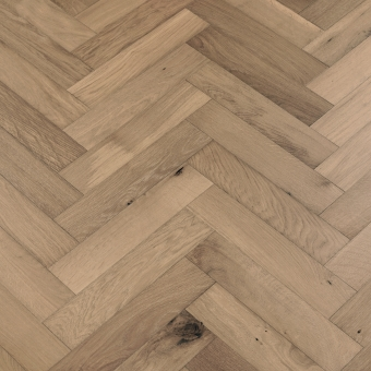 Ash Herringbone - 90mm x 14/3mm x 400mm Rustic Grade Brush & UV Oiled Engineered Wood Flooring