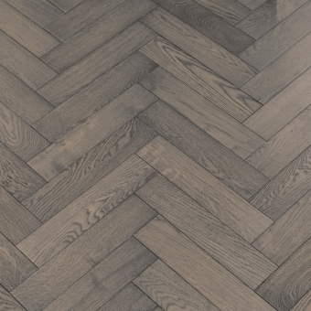 Boulder Herringbone - 90mm x 14/3mm x 400mm Rustic Grade Brush & UV Oiled Engineered Wood Flooring