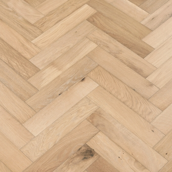Champagne Herringbone - 90mm x 14/3mm x 400mm Rustic Grade Brush & UV Oiled Engineered Wood Flooring