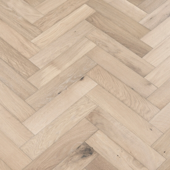 Coral Herringbone - 90mm x 14/3mm x 400mm Rustic Grade Brush & UV Oiled Engineered Wood Flooring