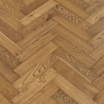 Coyote Herringbone - 90mm x 14/3mm x 400mm Rustic Grade Brush & UV Oiled Engineered Wood Flooring