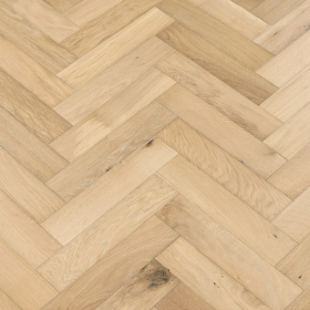 Dough Herringbone - 90mm x 14/3mm x 400mm Rustic Grade Brush & UV Oiled Engineered Wood Flooring