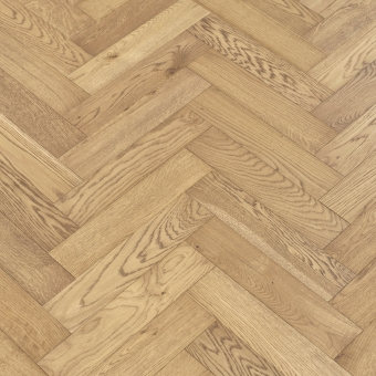 Environment Herringbone - 90mm x 14/3mm x 400mm Rustic Grade Brush & UV Oiled Engineered Wood Flooring